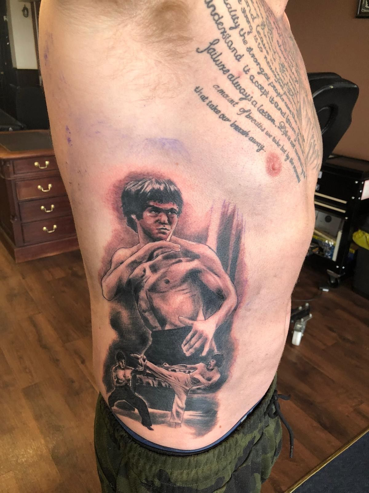 View Bruce Lee on ribs by Chris Webley