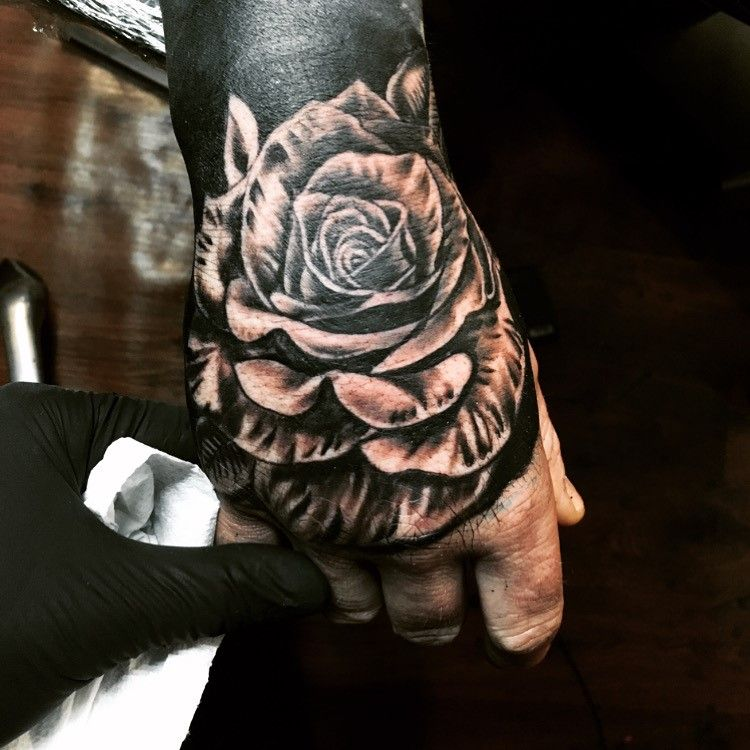 View Rose on hand by Ryan West