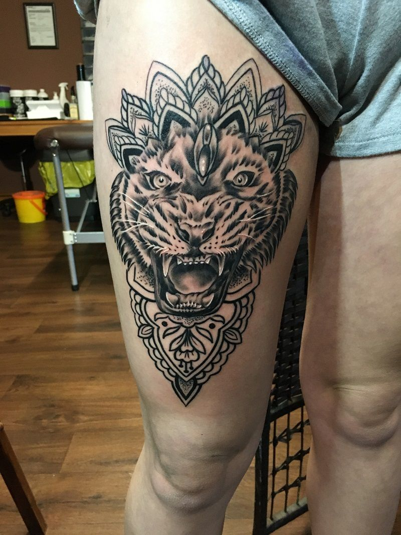 View Tiger & Mandala by Ryan West